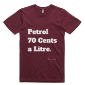 Brisbane Broncos - All Time 'Petrol 70 Cents a Litre' - T-Shirt - AS Colour -  - AS Colour - Staple Tee